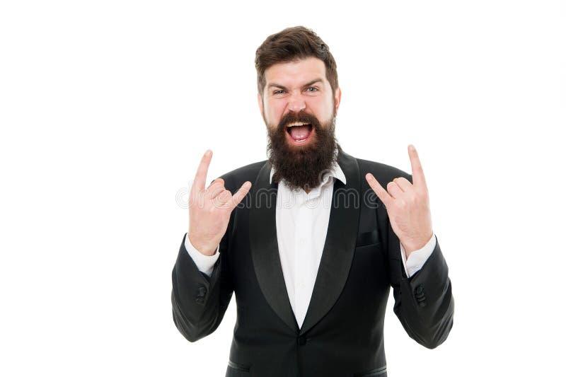 Echte rotting Vogelhaar en grooming Modemodel met lange baard en snor Manifestatistiek voor zakelijk gebruik stock afbeelding