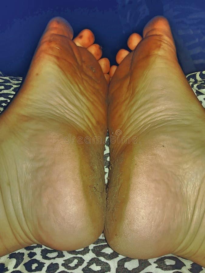 Echte voeten royalty-vrije stock afbeelding