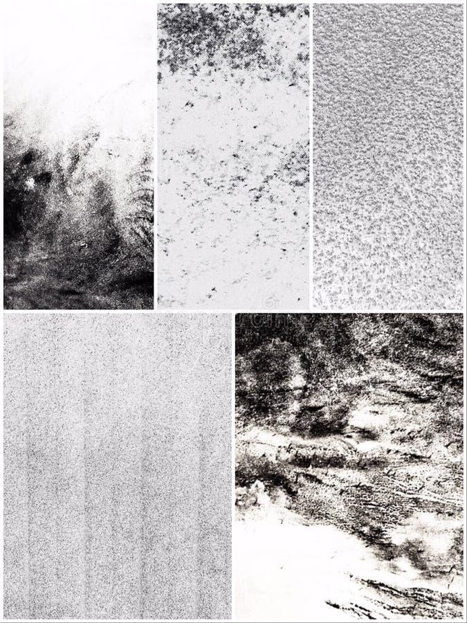 Echte Zwart-witte Texturen stock fotografie
