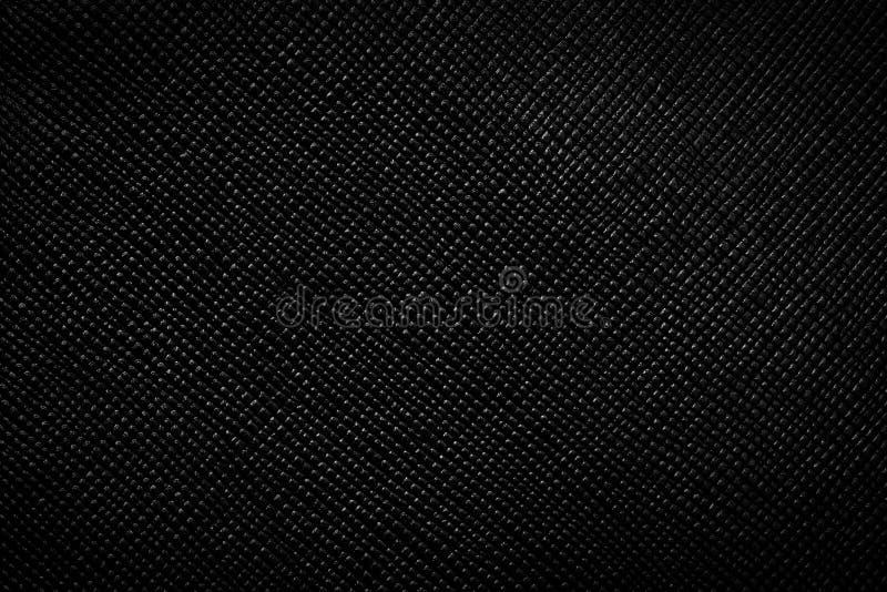 Echte zwarte leerachtergrond, patroon, textuur royalty-vrije stock fotografie