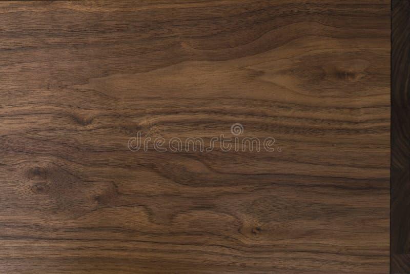 Echte zwarte okkernoot houten textuur met natuurlijke korrel royalty-vrije stock foto's