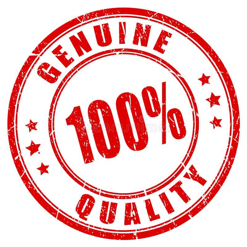 echter Stempel der Qualität 100 vektor abbildung