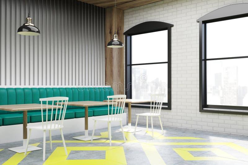 Ecke des Cafés mit Poster, grau lizenzfreie abbildung