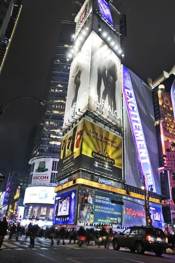 Ecke des Times Square lizenzfreie stockfotografie