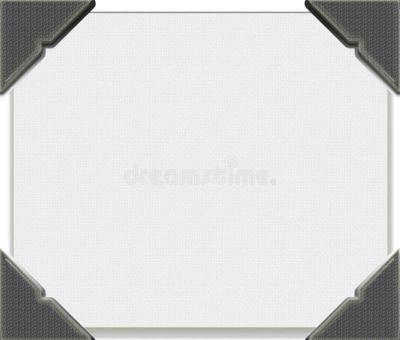 Ecken auf Tischplattensegeltuch stock abbildung