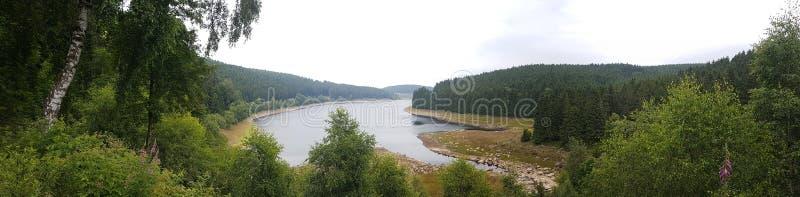 Eckertalsperre Harz Wandern obrazy stock
