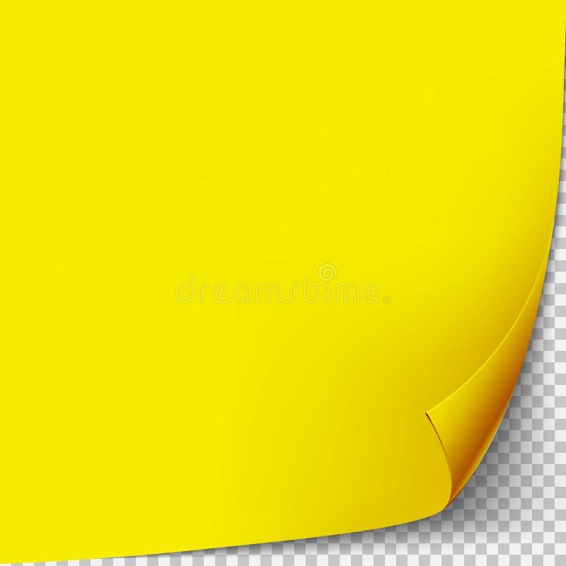 Eckgrünbuchschablone der Locke Transparentes Gitter Leere Hintergrundseite lizenzfreie abbildung