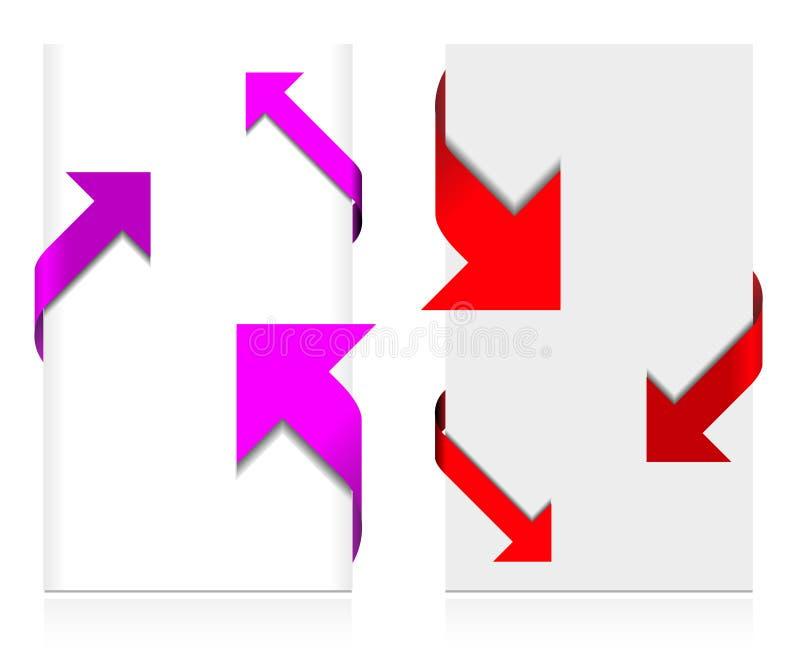 Eckpfeilset vektor abbildung