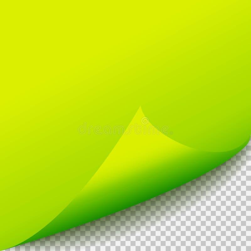 Eckschablone des blauen Papiers der Locke Transparentes Gitter Leere Hintergrundseite lizenzfreie abbildung