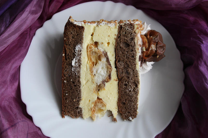 Eclair cake royalty-vrije stock foto