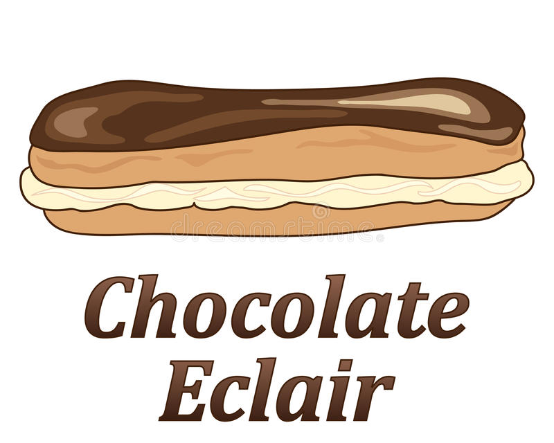 Eclair di cioccolato royalty illustrazione gratis
