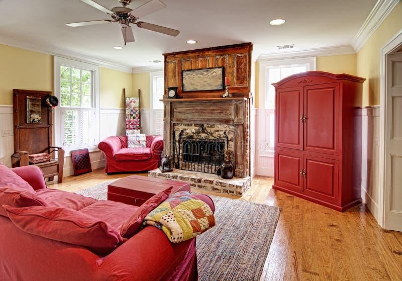 Eclectic livingroom stock photography