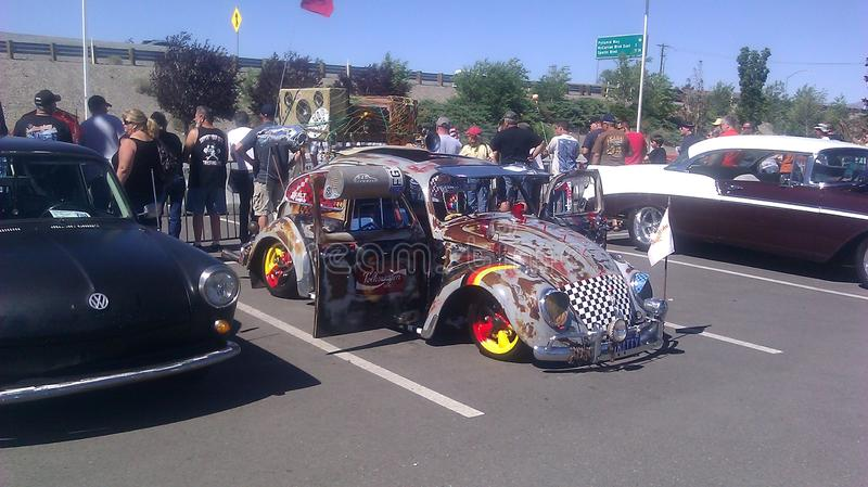 Eclectic VW at the Rat Rod Auto show in Sparks NV royalty free stock image