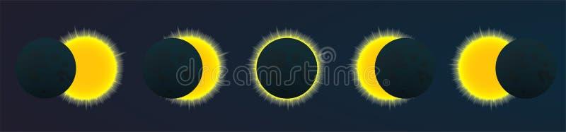Eclipce vektorillustration stock illustrationer