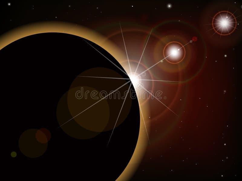 Eclipse 1 ilustración del vector