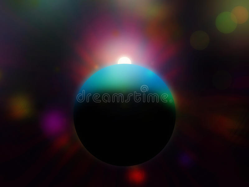 Download Eclipse stock illustration. Image of atmospheric, planet - 14153067