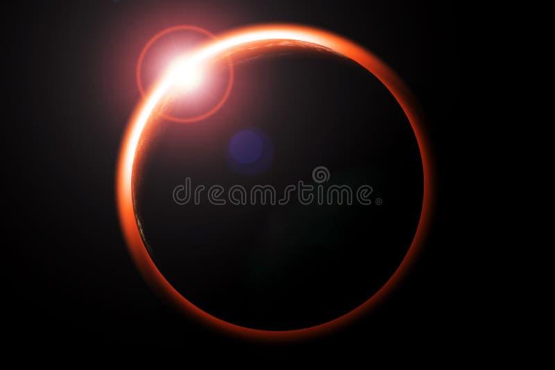 Eclipse ilustração stock
