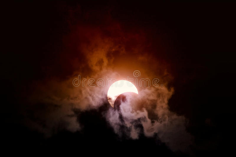 Eclipse fotografía de archivo