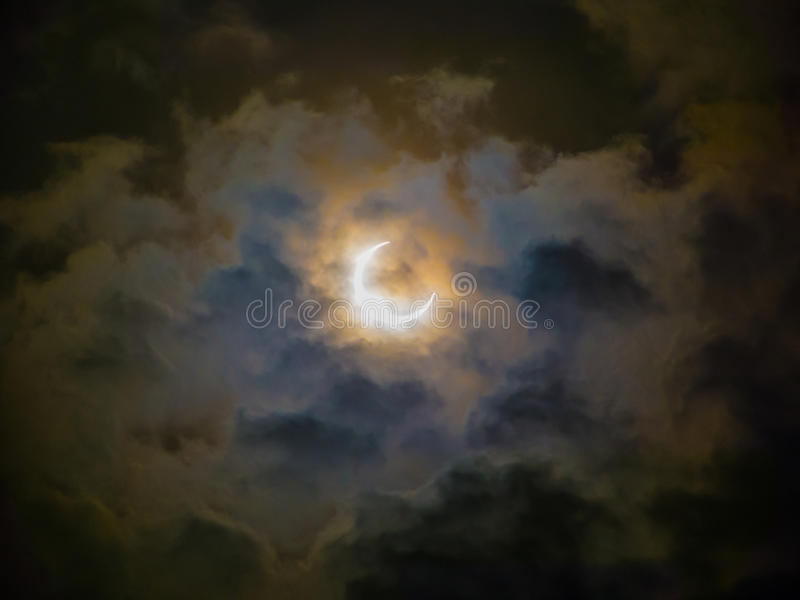 Eclipse anular foto de stock royalty free