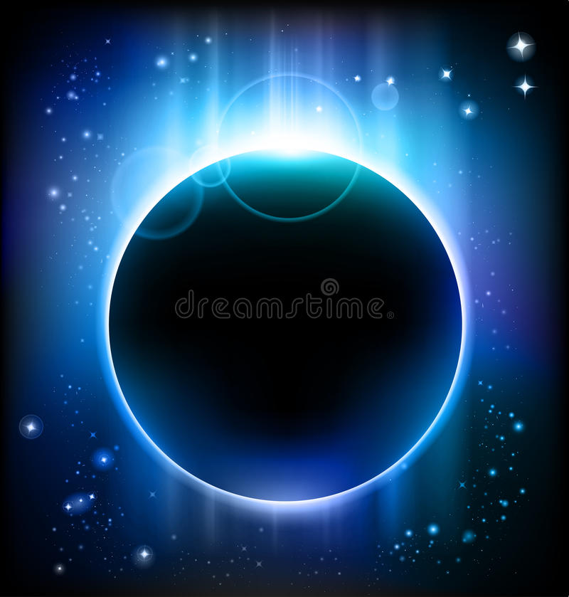 Download Eclipse background stock vector. Image of infinity, galaxy - 16837926