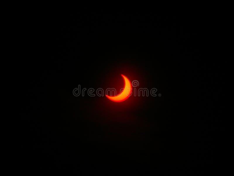 Eclipse, castillo Bitov, Moravia, checa imagen de archivo