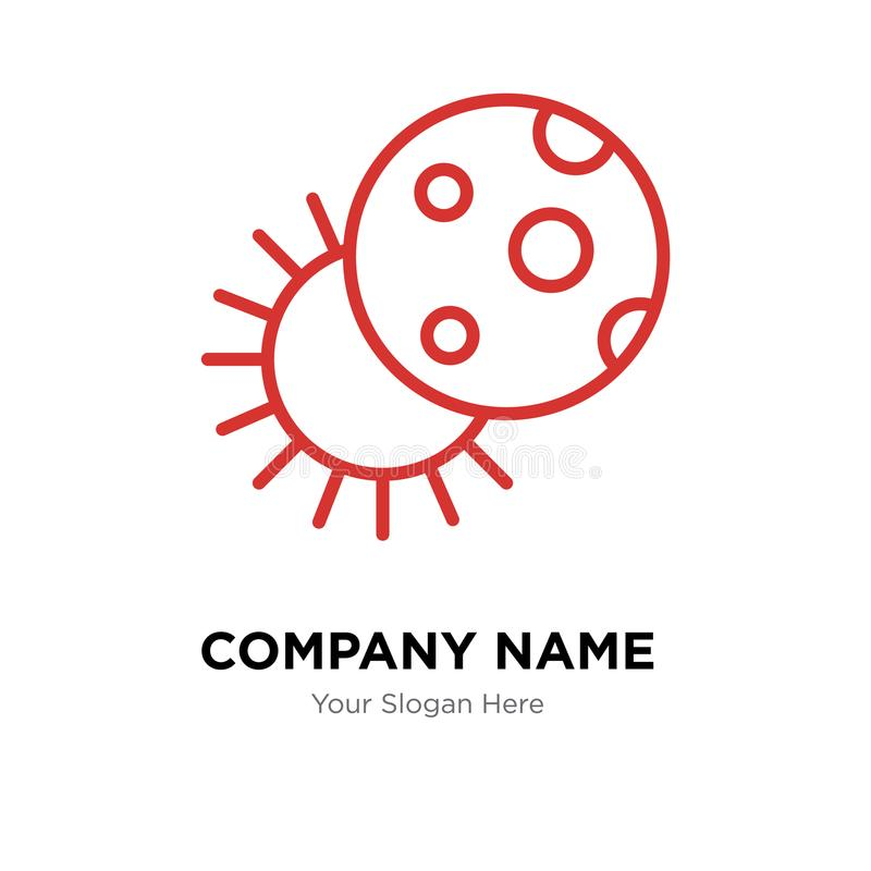 Eclipse Company Logo Design Stock Vector - Illustration of moon ...