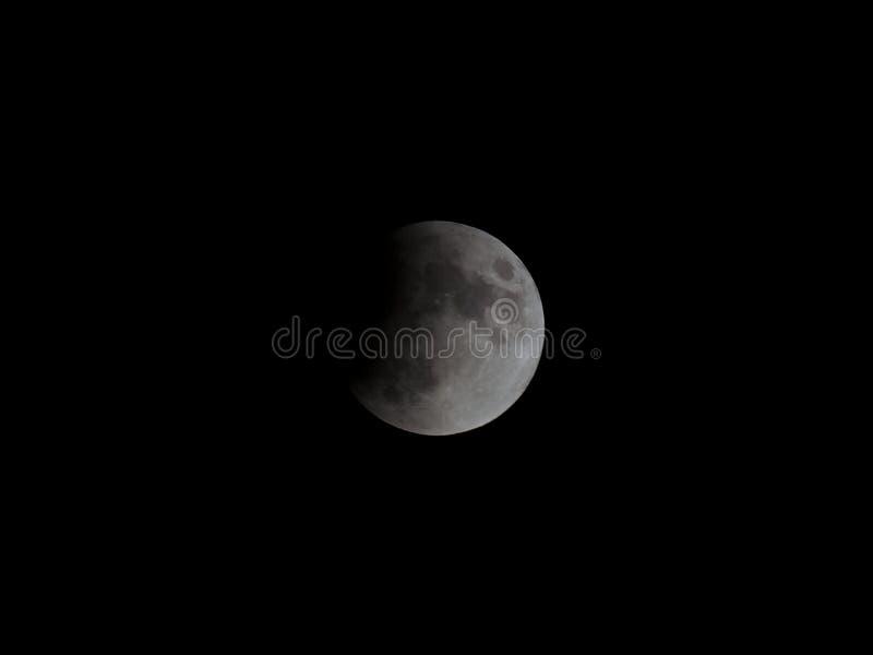 Eclipse da lua imagem de stock