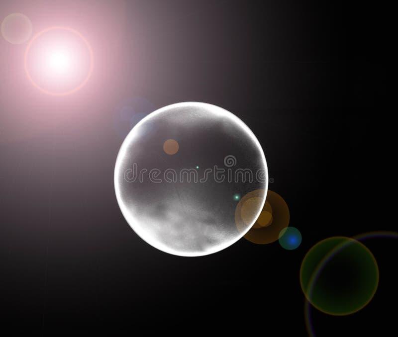 Eclipse de la luna stock de ilustración