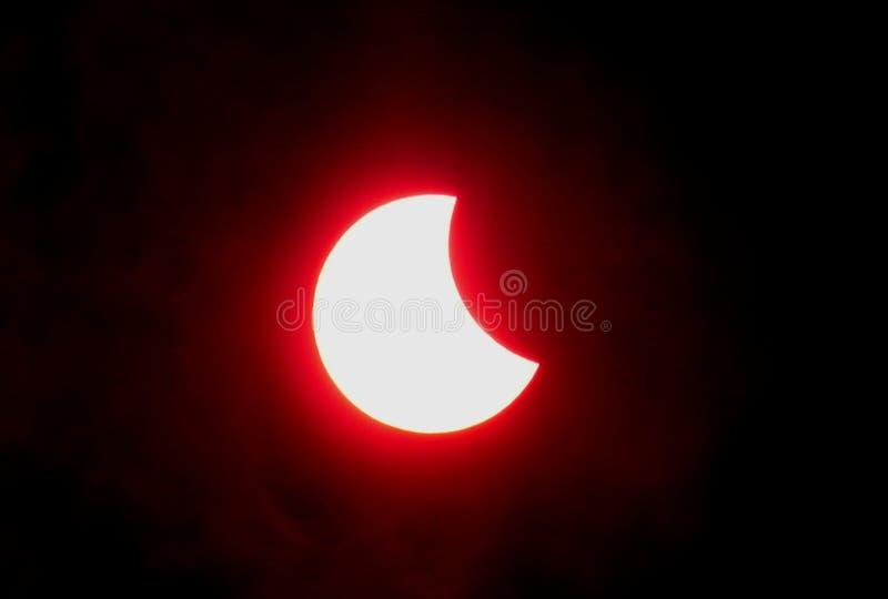 Eclipse de la luna imagen de archivo libre de regalías
