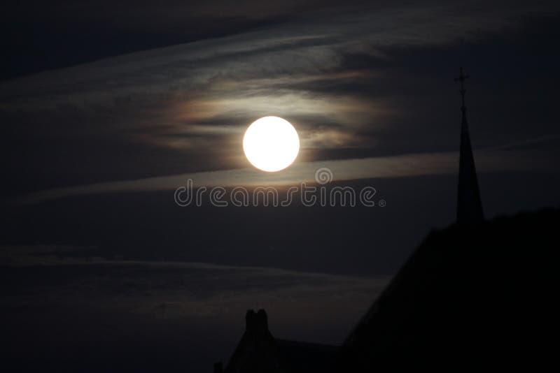 Eclipse de la Luna Llena fotografía de archivo