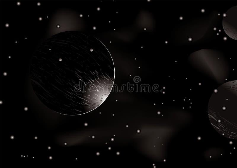 Eclipse dello spazio illustrazione di stock