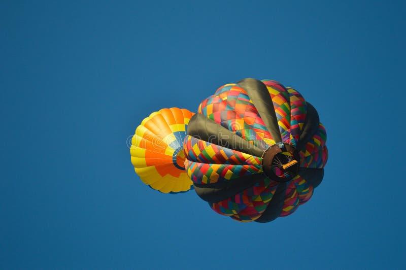Eclipse do balão de ar quente imagem de stock