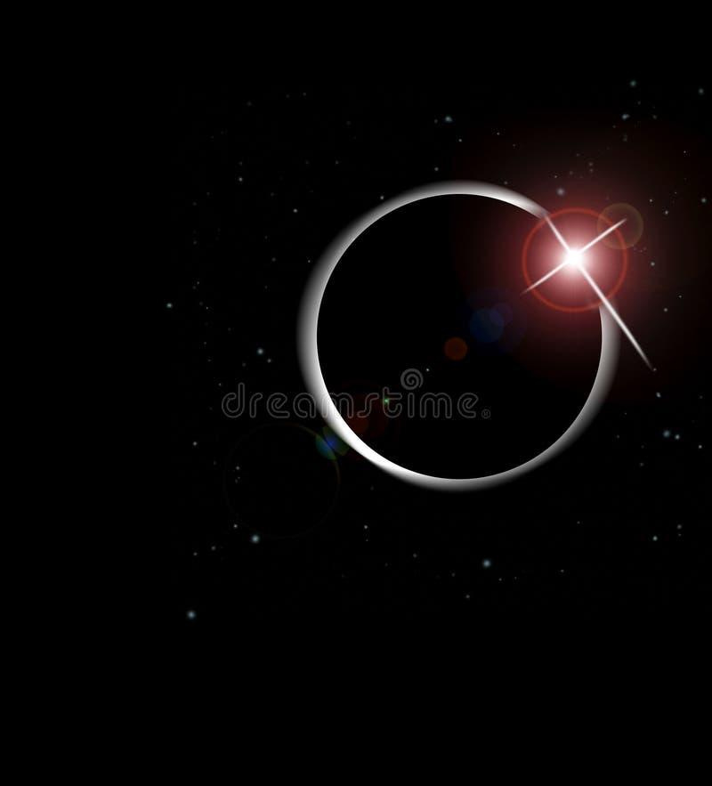 Eclipse do sol ilustração do vetor