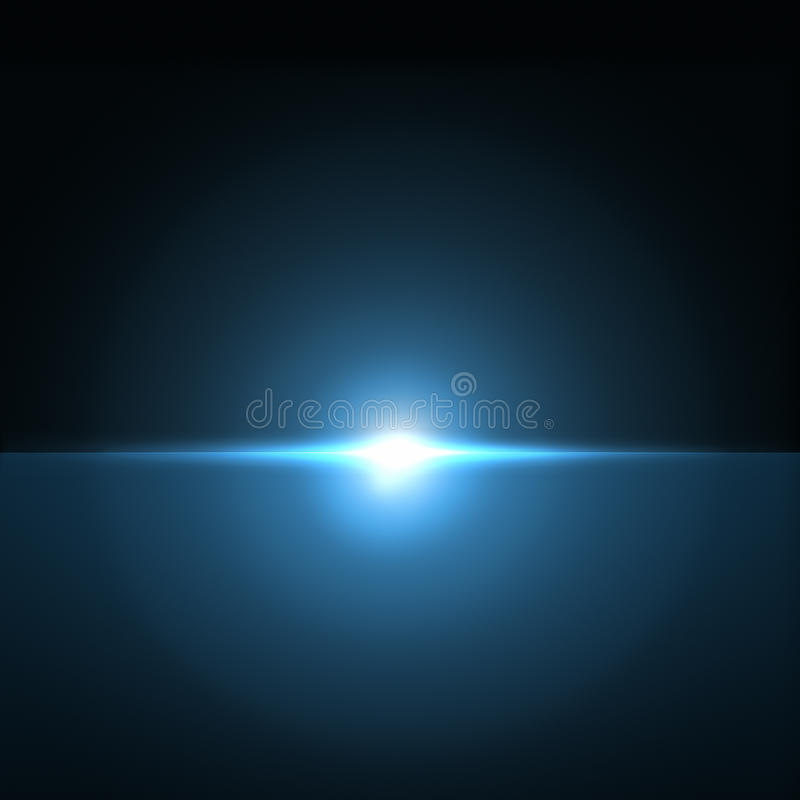 Eclipse flare royalty free illustration