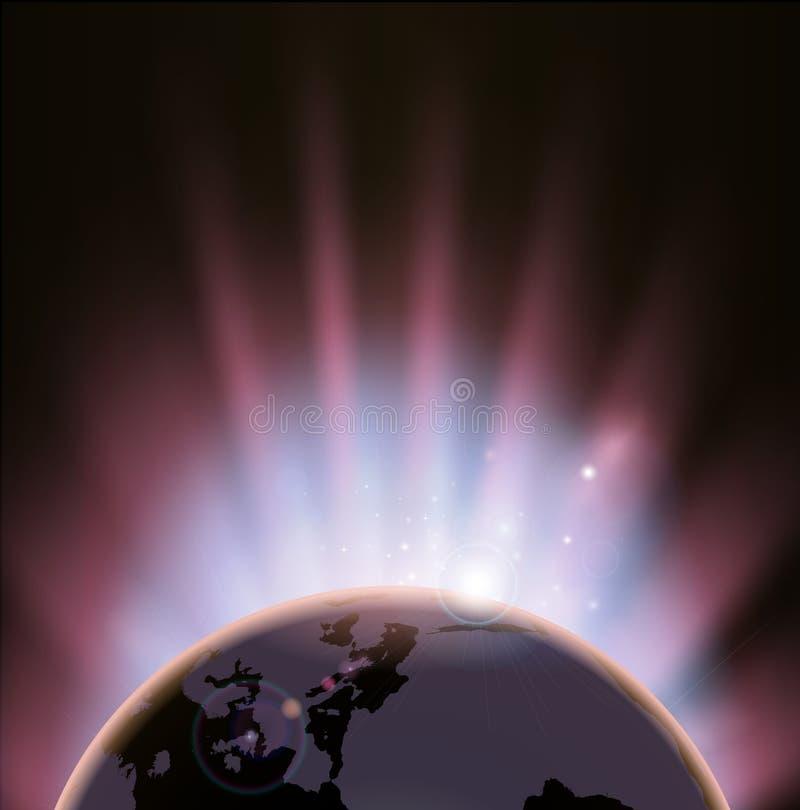 Eclipse globe concept background vector illustration