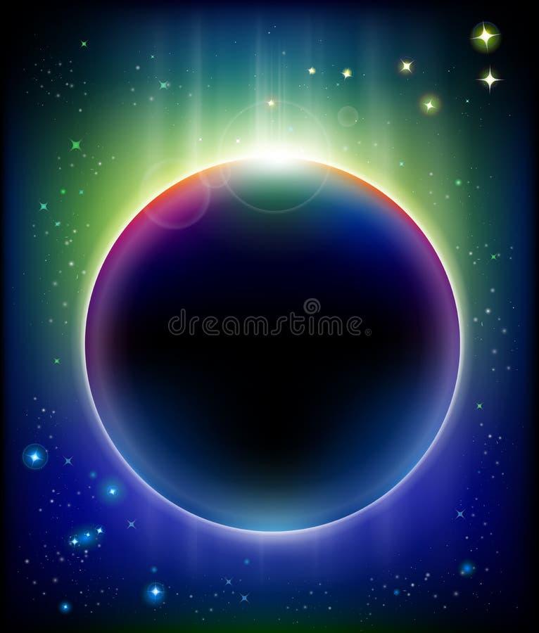 Eclipse impresionante stock de ilustración