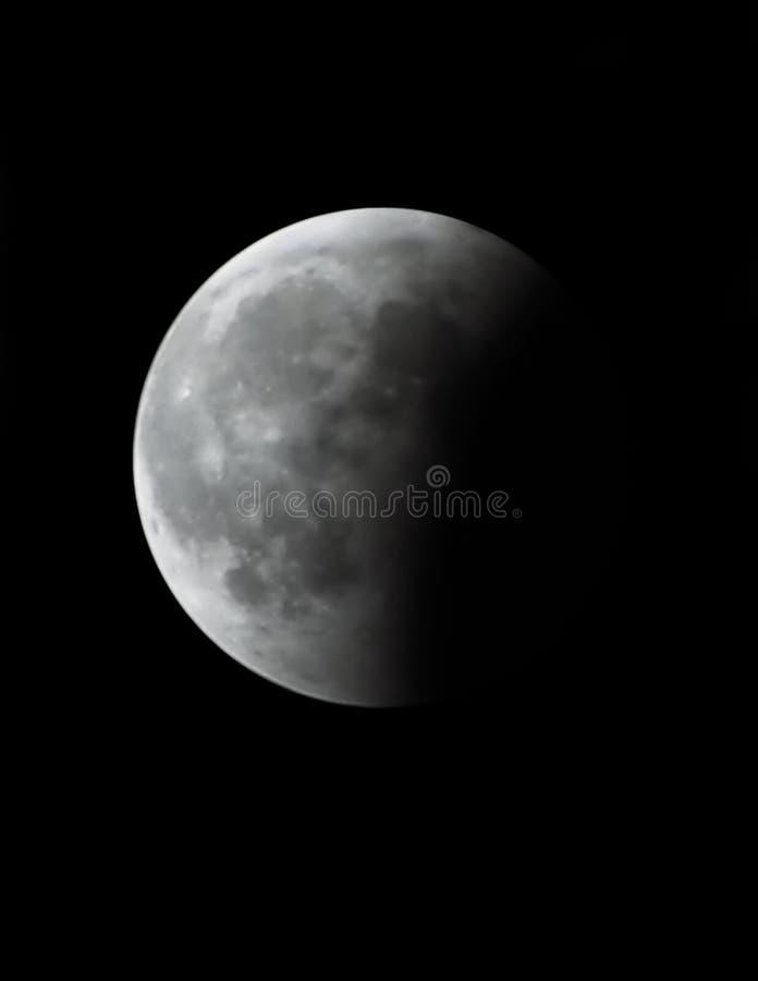 Eclipse lunar imagem de stock