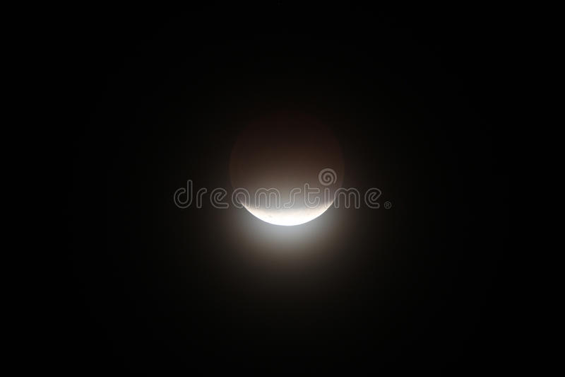 Eclipse lunar fotos de archivo