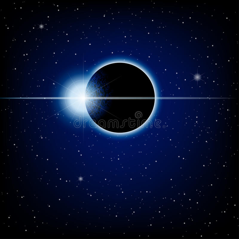 Eclipse lunar imagens de stock