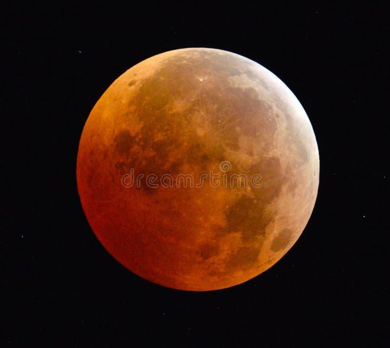 Eclipse lunar completo imagenes de archivo