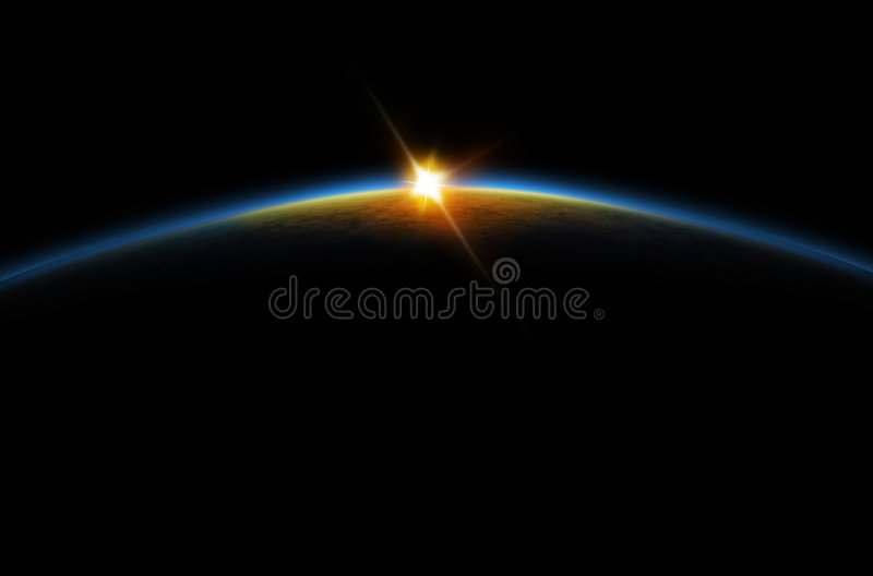 Eclipse - Lunar sunrise royalty free stock photo