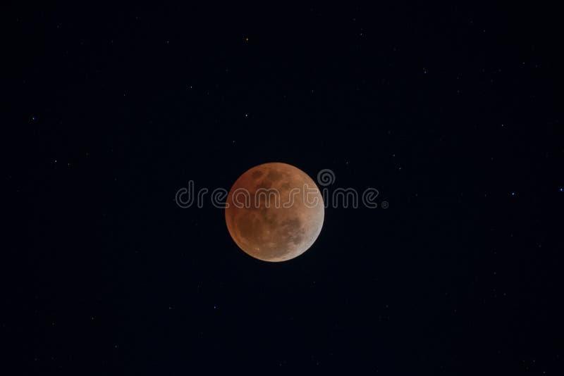 Eclipse lunar total fotos de archivo