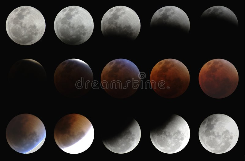 Eclipse lunar total 28aug07 fotografia de stock royalty free