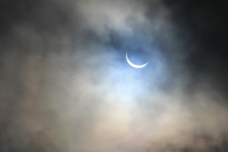 Eclipse in Manchester stock images