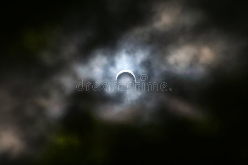 Eclipse of the Moon 2005 stock image