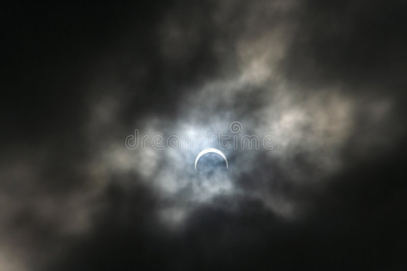 Eclipse of the moon stock photo