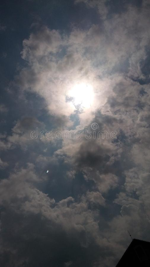Before the eclipse stock photography