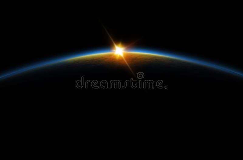Eclipse - nascer do sol lunar foto de stock royalty free