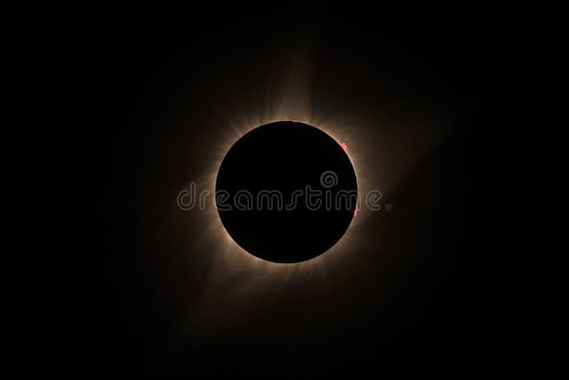 Eclipse solar 2017 imagenes de archivo