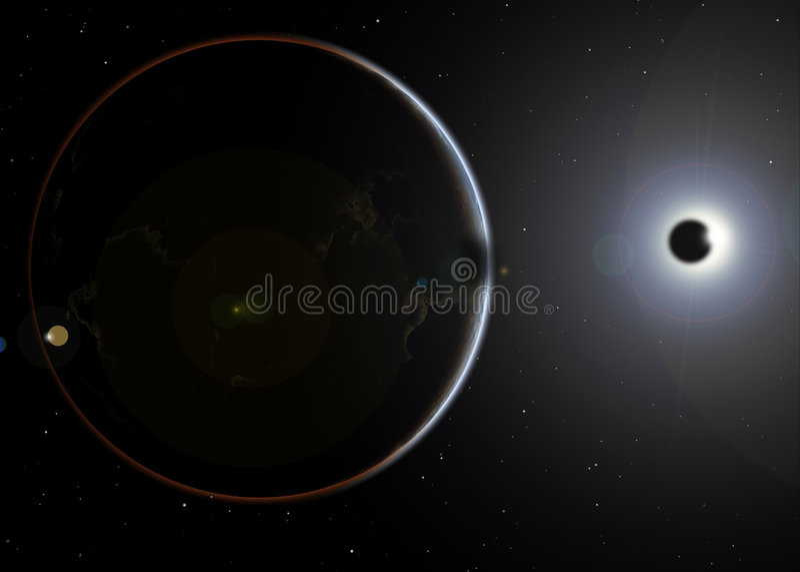 Eclipse solar ilustração royalty free